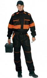 Pracovná kombinéza ROBERT èierno-oranžová 1155KO