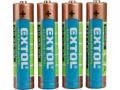 Alkalické batérie EXTOL 4ks 1,5V AAA (LR03) mikrotužkové 42010