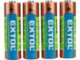 Alkalické batérie EXTOL 4ks 1,5V AA (LR6) tužkové 42011
