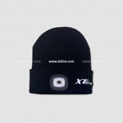 Èiapka s èelovkou èierna, nabíjací cez USB, UNI ve¾kos�, XTline