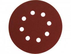 Brúsny kotúè 125mm suchý zips 8 dier zrn. 150, 10ks