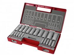 20-dielná gola sada 4-24mm predåžené 1/4+1/2 FORTUM 4700012