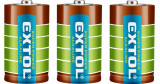 Batérie alkalické 1,5V LR14/C 3ks