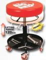 Pojazdný sedák teleskopický pre autoservisy