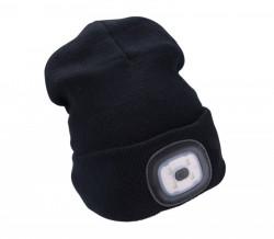 Èiapka s èelovkou èierna, nabíjací, USB, UNI ve¾kos� 43199