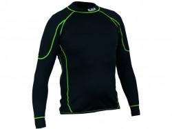 Pánske funkèné trièko REWARD, dl. rukáv èierno-zelené