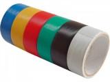 Pásky izolaèné PVC 19mmx3m x 6ks 6 barev 9550
