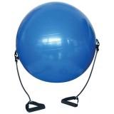 Gymnastická lopta s gumovými úchytkami 0152