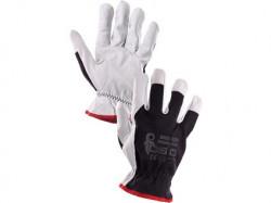 Kombinované rukavice TECHNIK PLUS èierno-biele - PREDAJ PO 12 pároch