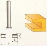 Fréza tvarová 10x9,4mm stopka 8mm na drevo