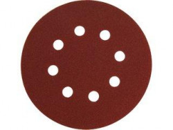 Brúsny kotúè 125mm suchý zips 8 dier zrn. 100, 10ks