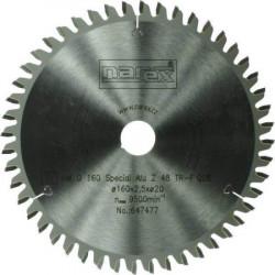 160x2,5x20 Pílový kotúè na hliník 48 zubov NAREX