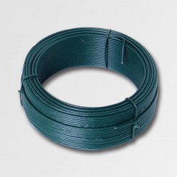 Viazací drôt 2,0mmx50m zelený PVC 42249