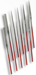 Ihlové pilníky s diam. povrchom STAVTOOL 10díl. P18803