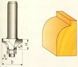 Fréza tvarová 3,97x3,97x8mm s ložiskom na drevo