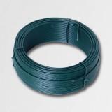 Napínací drôt 3,4mmx50m zelený PVC 42256