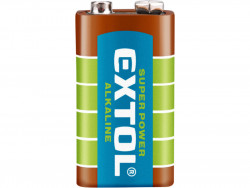 EXTOL ENERGY batérie alkalické, 1ks, 9V (6LR61)
