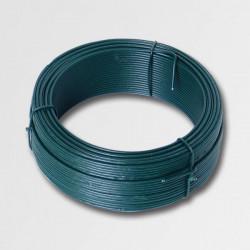 Napínací drôt 3,4mmx78m zelený PVC 42257