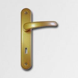 Dverové kovanie Michaela V72 zlatá pre vložkový zámok