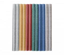 7,2x100 mm 12ks Lepiace tavné tyèinky MIX farieb s leskom EXTOL CRAFT