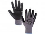 Potiahnuté rukavice NAPA šedo-èierne