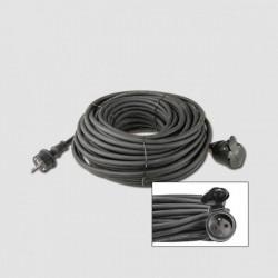 Predlž. kábel guma EMOS 1 zás. 230V/10m KL29210