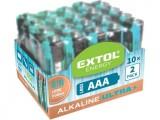Alkalické batérie EXTOL 20ks 1,5V AAA (LR03) mikrotužkové 42012