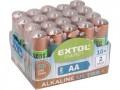 Alkalické batérie EXTOL 20ks 1,5V AA (LR6) tužkové 42013