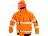 Reflexná bunda oranžová LEEDS zimná