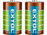 EXTOL ENERGY batérie alkalické 1,5V LR20/D 2ks