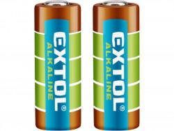 EXTOL ENERGY batérie alkalické, 2ks, 12V (23A)