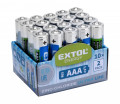 Batérie AAA mikrotužkové R03 1,5V zink-chloridové 20ks EXTOL