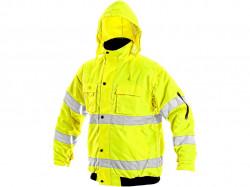 Reflexná bunda žlutá LEEDS zimná