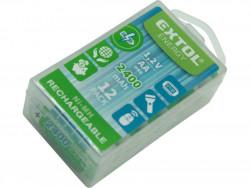 EXTOL ENERGY batérie nabíjacie 12ks AA (HR6) 1,2V, 2400mAh NiMh