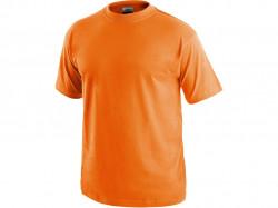 Trièko DANIEL krátky rukáv, bavlna, oranžové