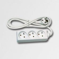 Predlžovací kábel 3 zásuvky biely 5m KL870503