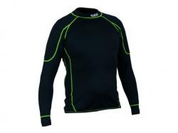 Detské funkèné trièko REWARD, dl. rukáv, èierno-zelené